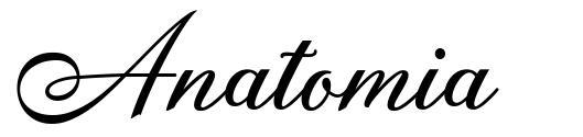 Anatomia font