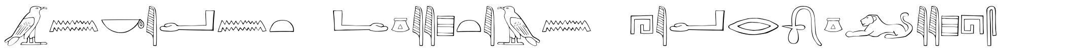 Ancient Egyptian Hieroglyphs font