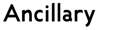 Ancillary font