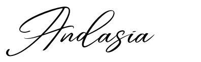 Andasia шрифт