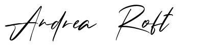 Andrea Roft font