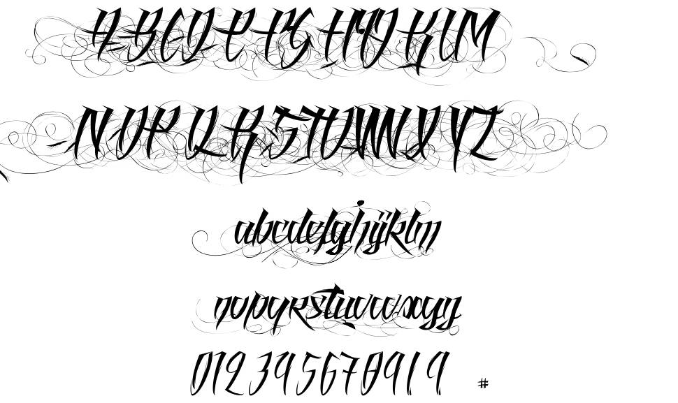 Angel of Blood font