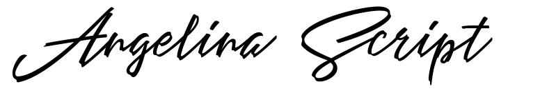 Angelina Script font