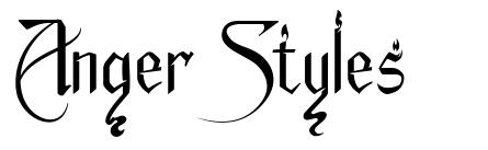 Anger Styles フォント
