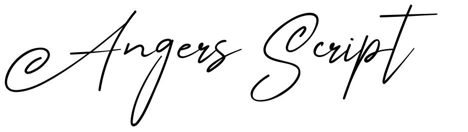 Angers Script font