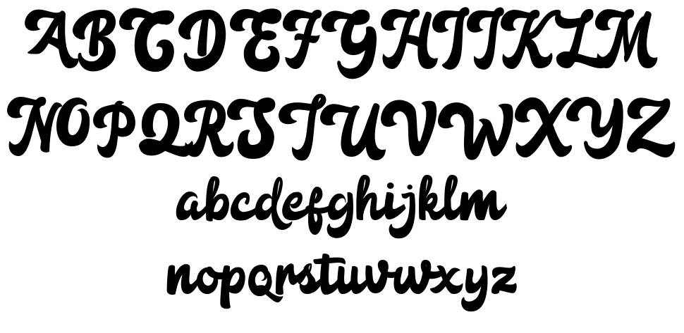 Anggada шрифт