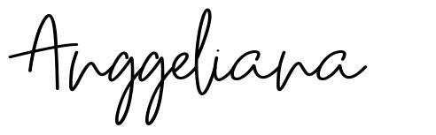 Anggeliana шрифт