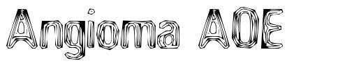 Angioma AOE font