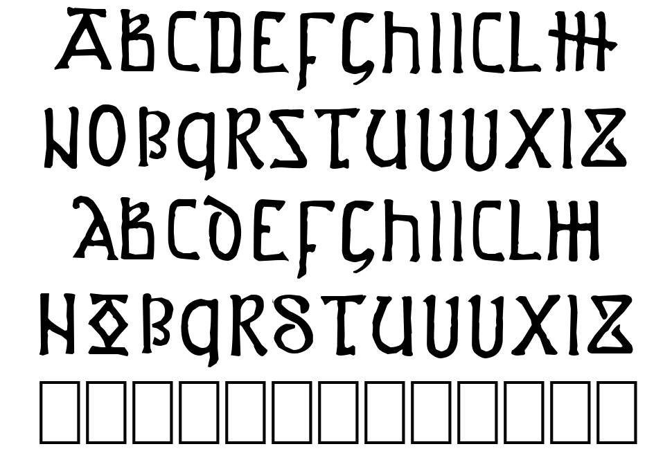 Anglo-Saxon Project font