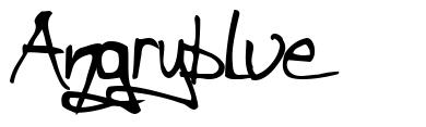 Angryblue 字形