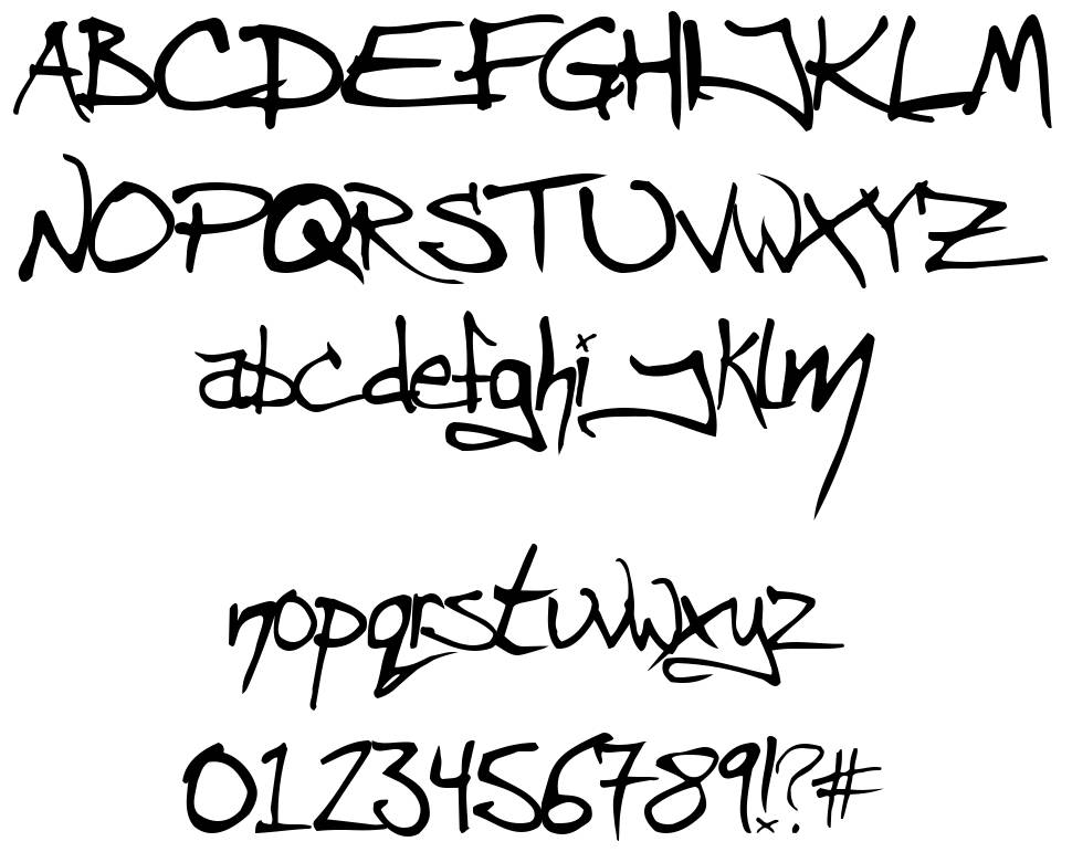 Angryblue font
