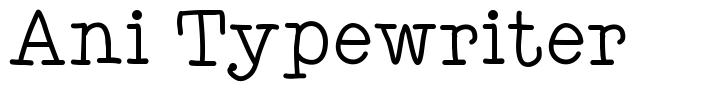 Ani Typewriter font