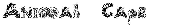 Animal Caps písmo