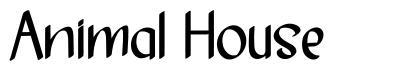 Animal House schriftart