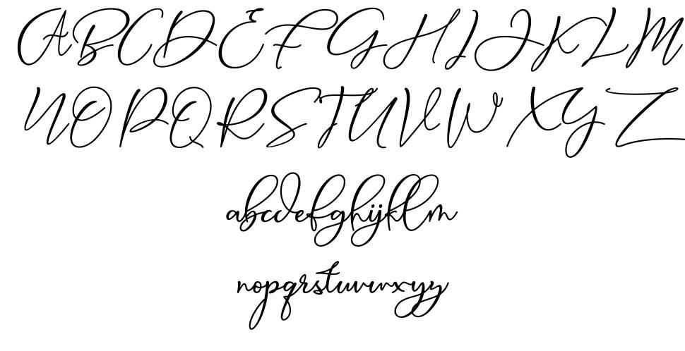 Animal Script font