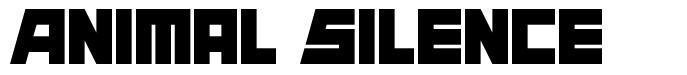 Animal Silence font