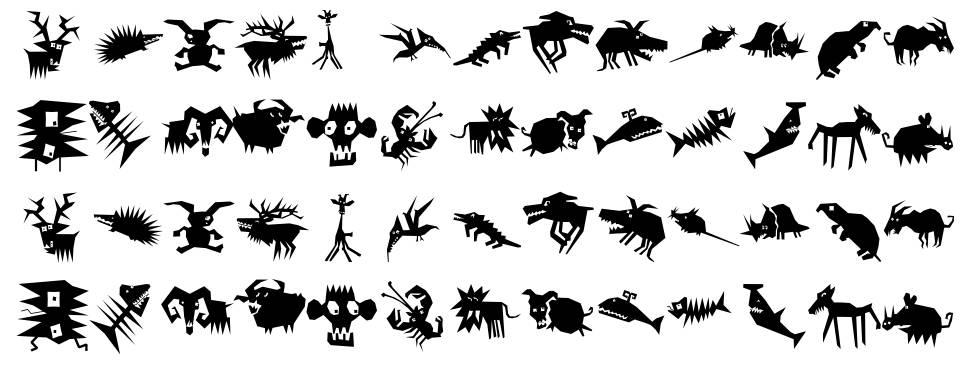 Animalia Scissored font