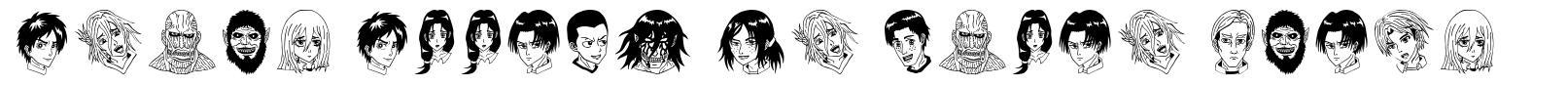 Anime Attack On Titan Image font
