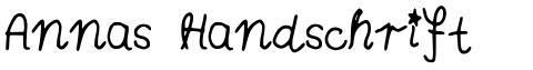 Annas Handschrift