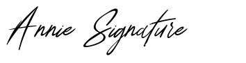 Annie Signature