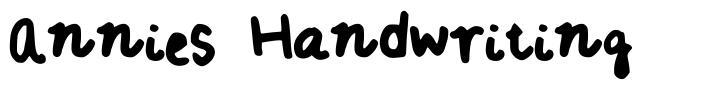 Annies Handwriting