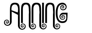 Anning font