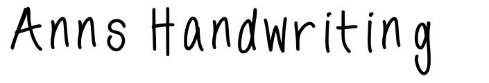 Anns Handwriting font