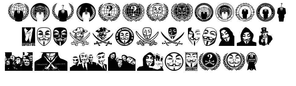 Anonbats font