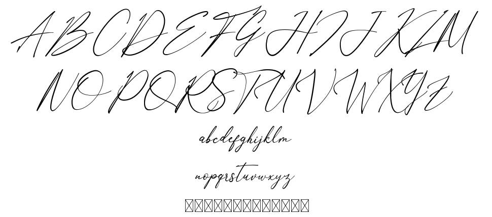 Anthoni Signature czcionkę