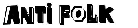 Anti Folk font