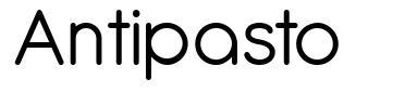Antipasto 字形