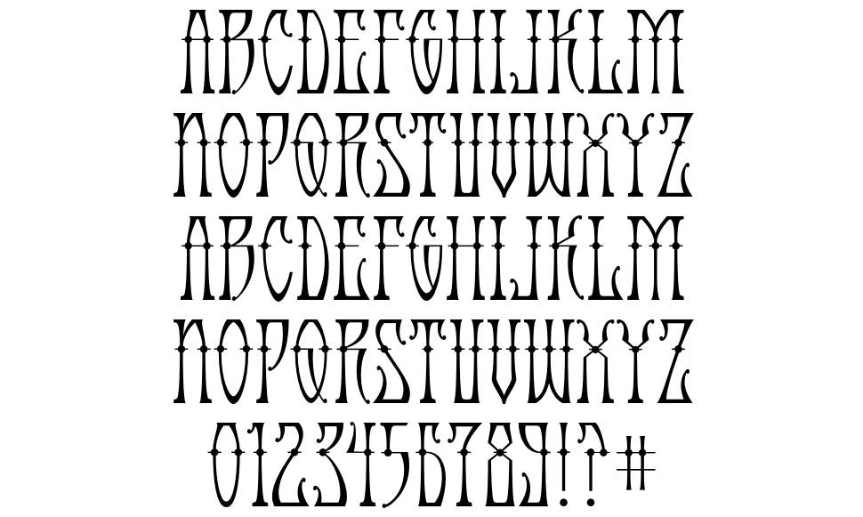 Antique Android font