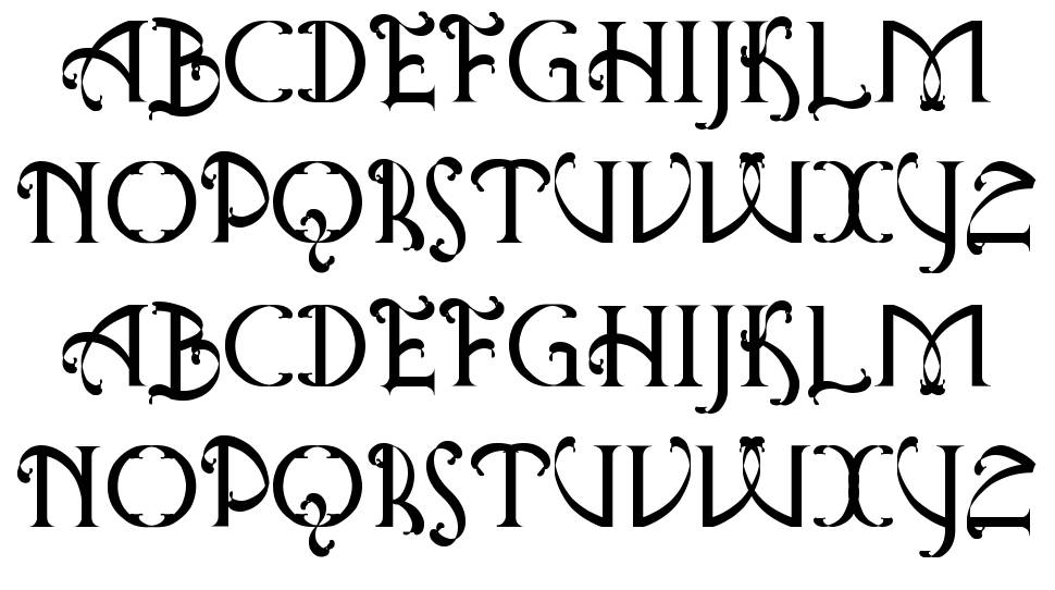 Antique Quest St font
