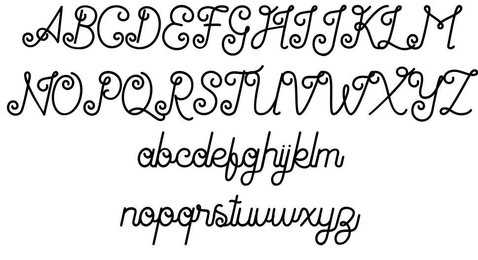 Antiqueline font