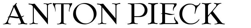 Anton Pieck font