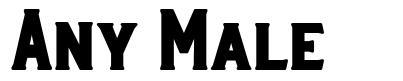Any Male font