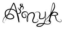 Anyk font