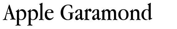 Apple Garamond 字形