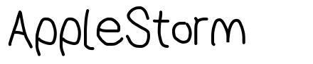 AppleStorm font