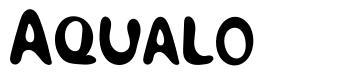 Aqualo font