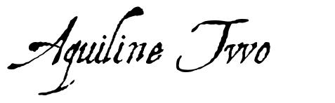 Aquiline Two 字形