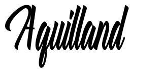 Aquilland font