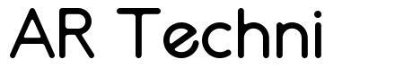 AR Techni font