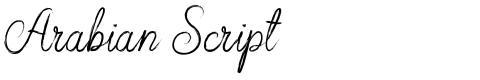 Arabian Script