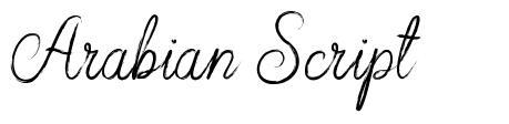 Arabian Script font