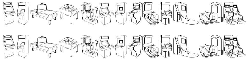 Arcade Video Games font