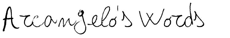 Arcangelo's Words font
