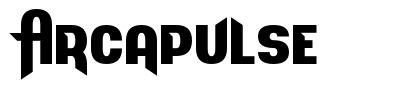 Arcapulse font