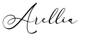 Arellia czcionkę
