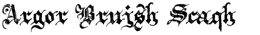 Argor Brujsh Scaqh font